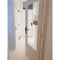 Door handle pair Amsterdam on blind shield matt black