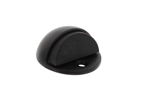 Butée de porte modèle rond noir mat