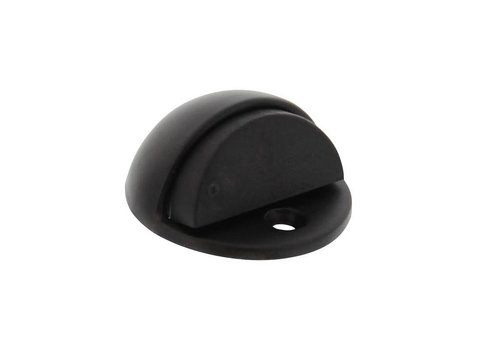 Doorstop round model matt black
