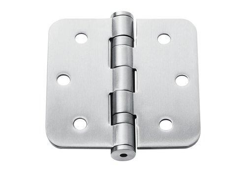 Charnière à bille inox 76x76x2.5mm arrondie