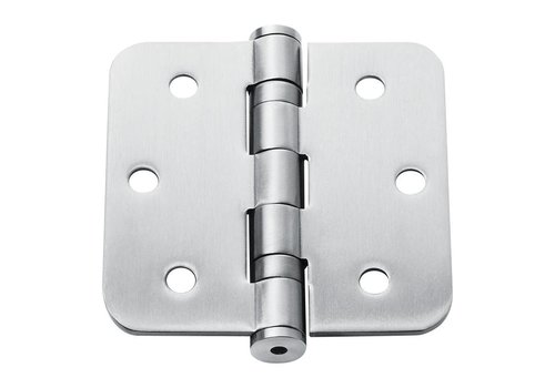 Stainless steel ball hinge 76x76x2.5mm rounded