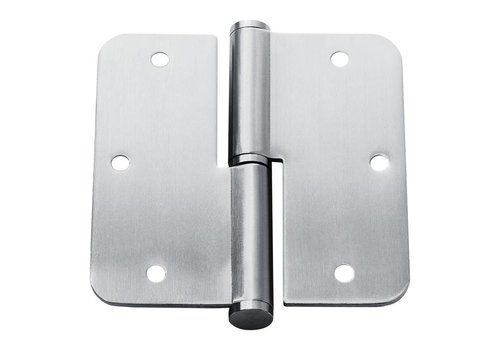 Stainless steel Paumelle rounded 89x89x2.5mm right