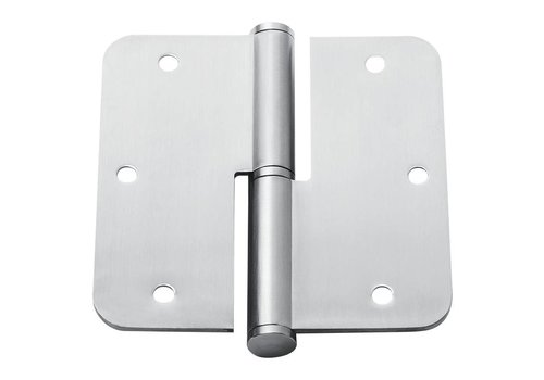 Paumelle 89x89x2,5mm stainless steel rounded left