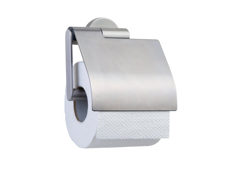 Tiger Boston Toilet roll holder with cover Stainless steel brushed
