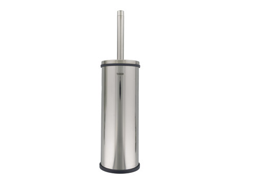 Tiger Boston Toilet brush and holder Freestanding Stainless steel polished