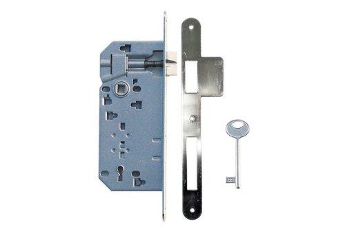 Lock nickel 90mm + wider striker plate