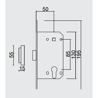 MAGNEETSLOT AGB 18mm KOPER CYLINDER 85MM