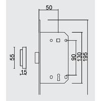 MAGNEETSLOT AGB 18mm KOPER 90MM