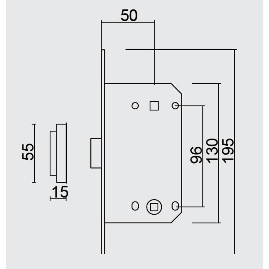 MAGNEETSLOT AGB 18mm KOPER WC 96MM