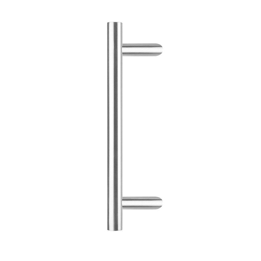 Deurgreep per stuk T-schuin 25/400/600 - diepte 85mm  - RVS inclusief bevestiging