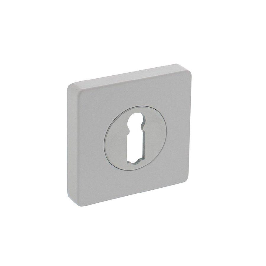 1sleutelgat plaatje vierkant 55x55x10mm met nokken wit