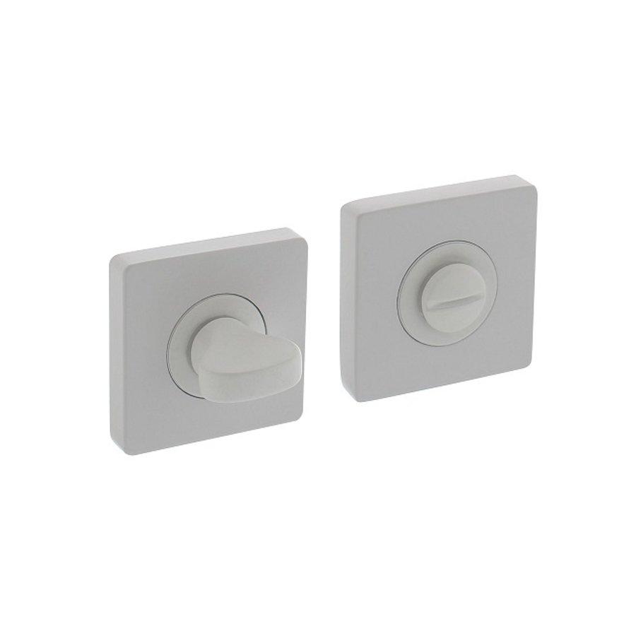 WC-sluiting 8mm vierkant 55x55x10mm met nokken wit