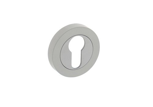 1 profile cylinder plate round Ø52x10mm with cams white