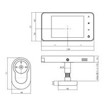Digitale deurcamera met trilfunctie en belfunctie inclusief 128 MB SD Card