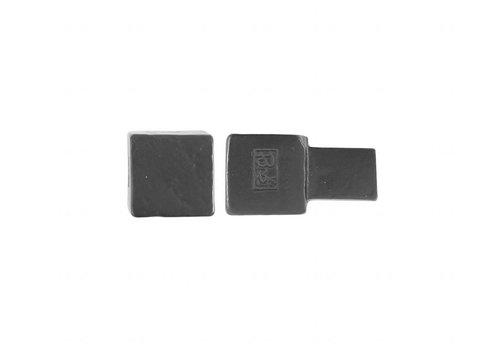 Pièce bouton de meuble PQ-15 fer vieilli-noir 15mm