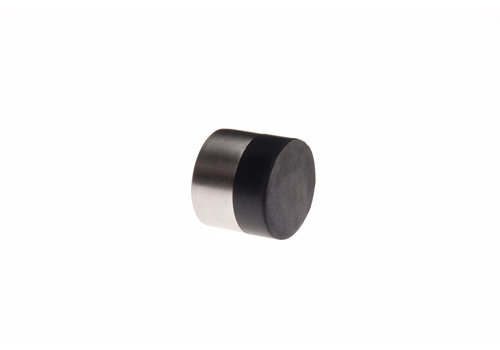 Cylindrical wall doorstop stainless steel 30x25mm