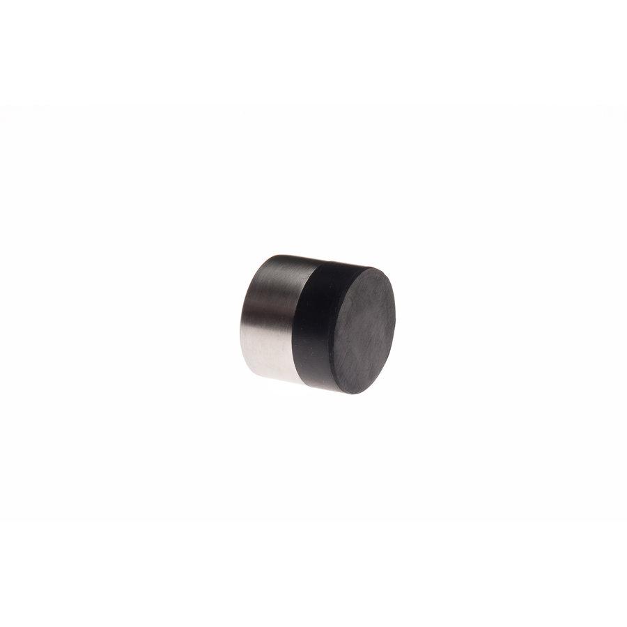 Cilindrische muurdeurstop uit RVS 30x25mm