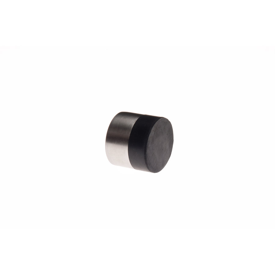 Cylindrical wall doorstop made of stainless steel 30x26mm