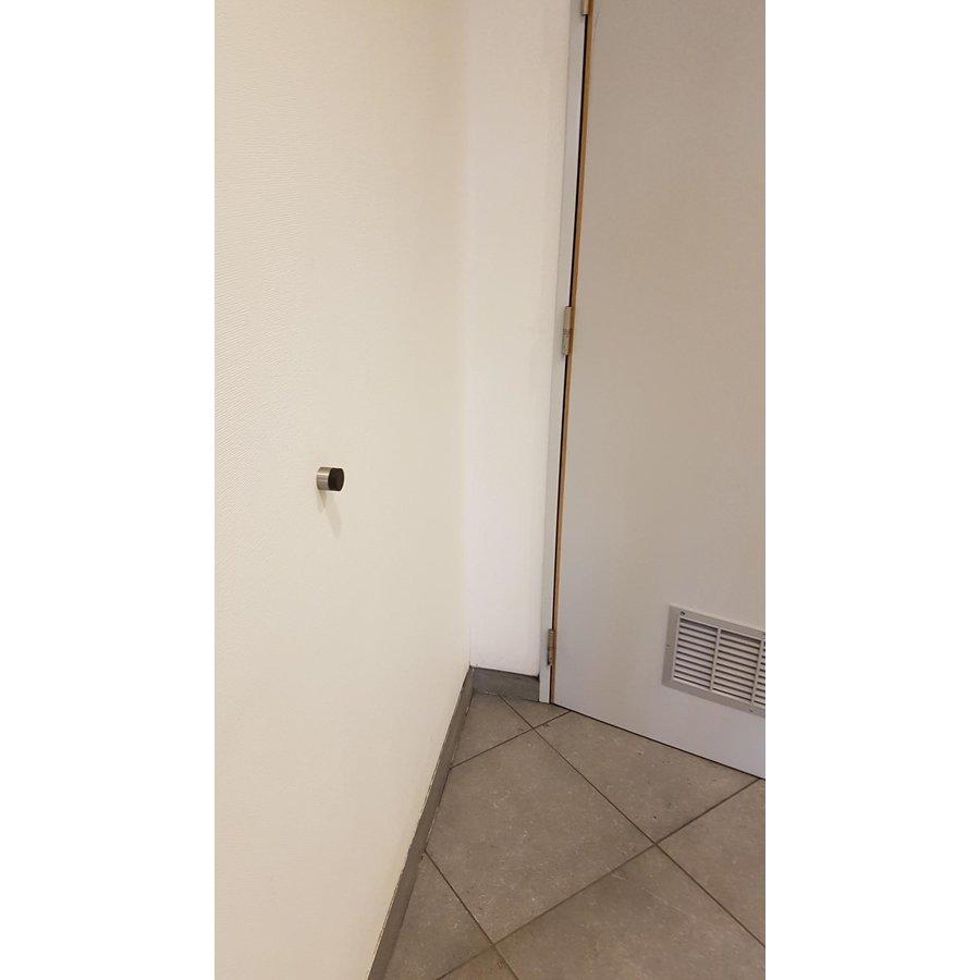 Zylindrischer Wandtürstopper aus Edelstahl 30x26mm