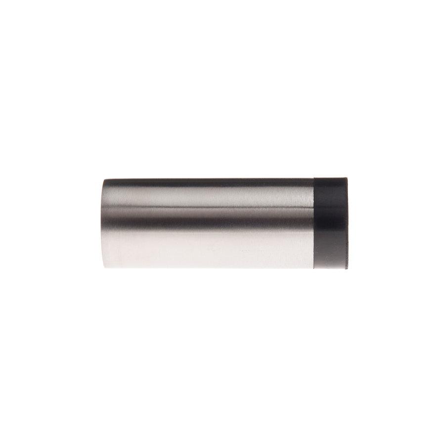 Cilindrische muurdeurstop uit RVS 30x80mm