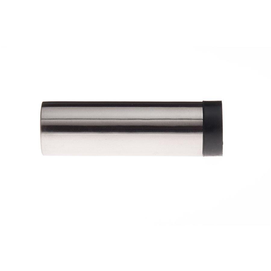 Cilindrische muurdeurstop uit RVS 30x100mm