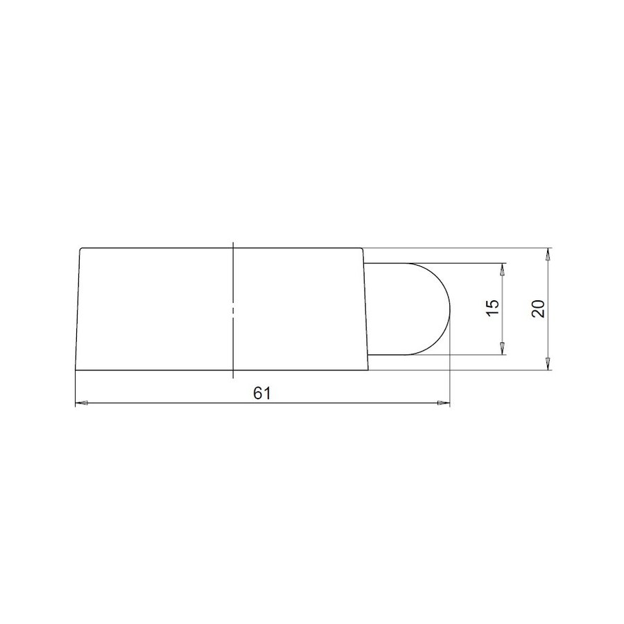 Design-Bodentürstopper aus Edelstahl 51x21mm