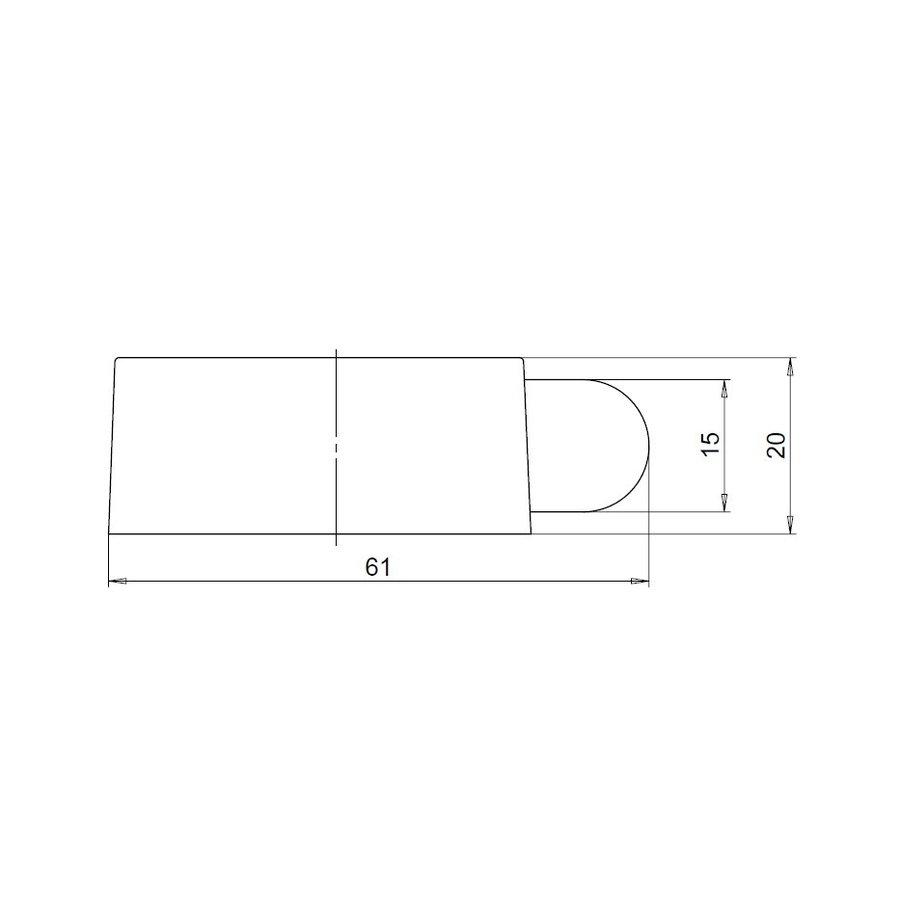 Design vloerdeurstop uit RVS 51x21mm