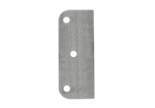 Adaptor plaat paumelle 1 mm RVS