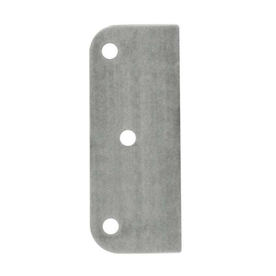 Adaptor plaat voor paumelle 1 mm RVS