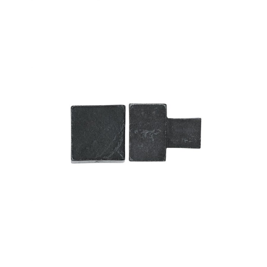 PIECE FURNITURE KNOB PQ-35 AGED IRON - BLACK 35mm