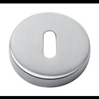 1 Edelstahl Schlüsselplatte rund