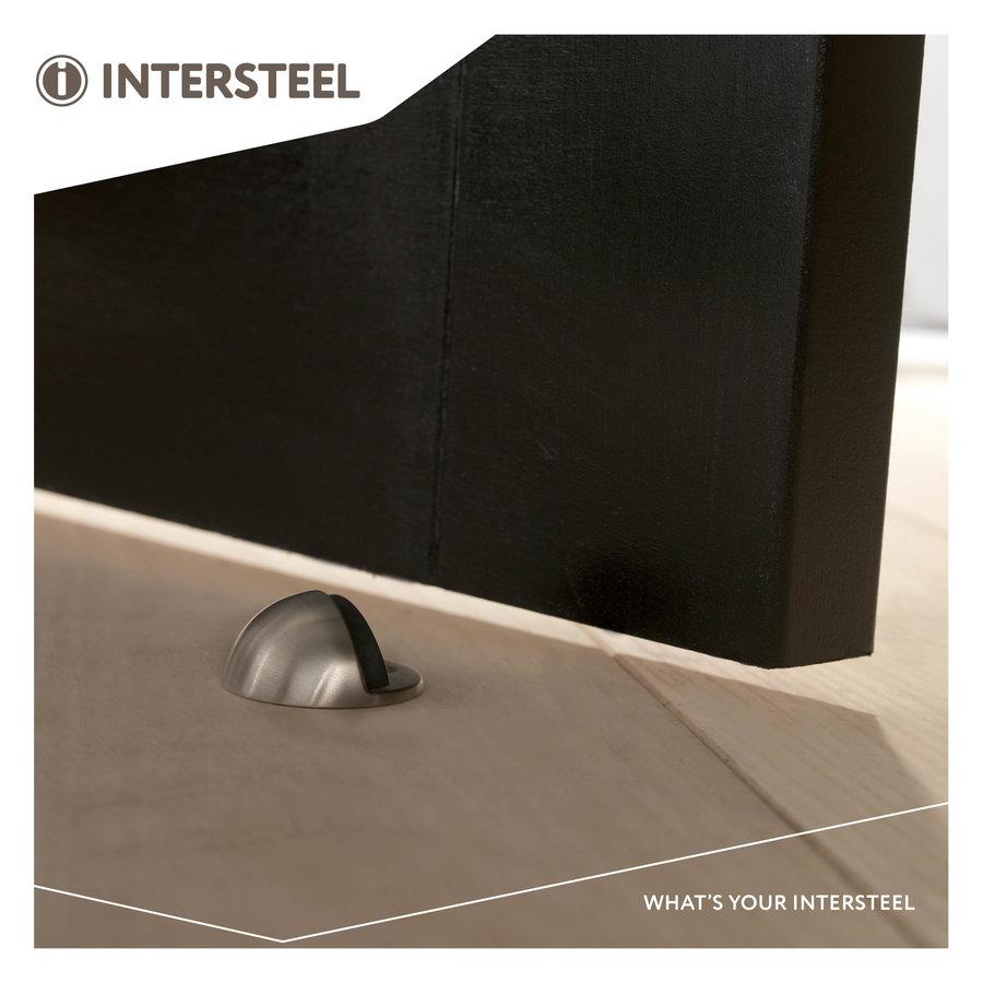 Stainless steel floor door stopper in the shape of a sphere