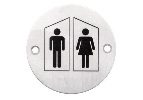 Picto RVS rond man+vrouw