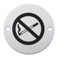 Picto um Rauchverbot aus Edelstahl