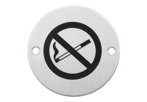 Picto around stainless steel smoking ban