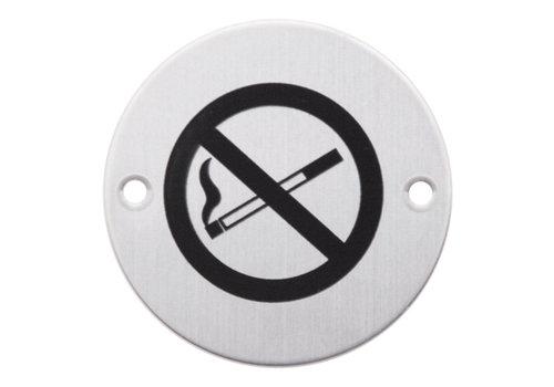 Picto autour de l'interdiction de fumer en acier inoxydable