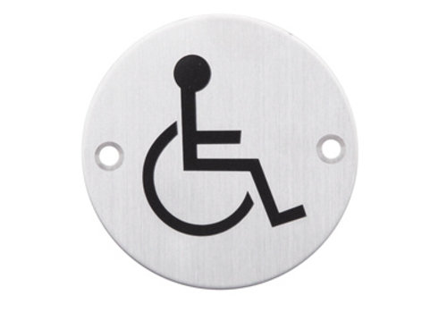 Picto stainless steel for the disabled