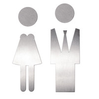 Picto stainless steel large man + woman