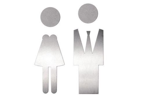 Picto acier inoxydable mâle + femelle