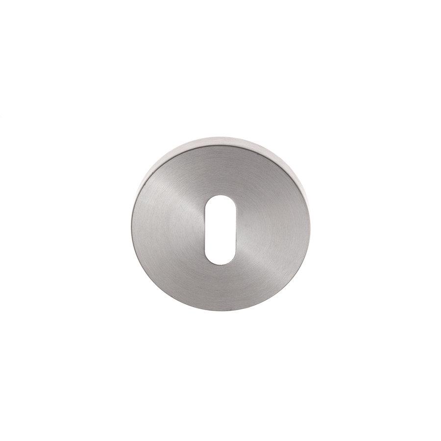 Paar Schlüsselrosetten aus Edelstahl um 53x6,5 mm