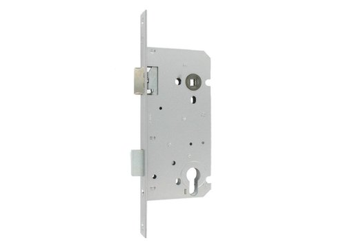Litto Cylinder lock 110/55 Stainless steel look with straight front plate - Doorn 55mm