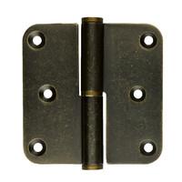 Paumelle skin 80x80x2.5 old brass rechts 3 stuks + schroeven