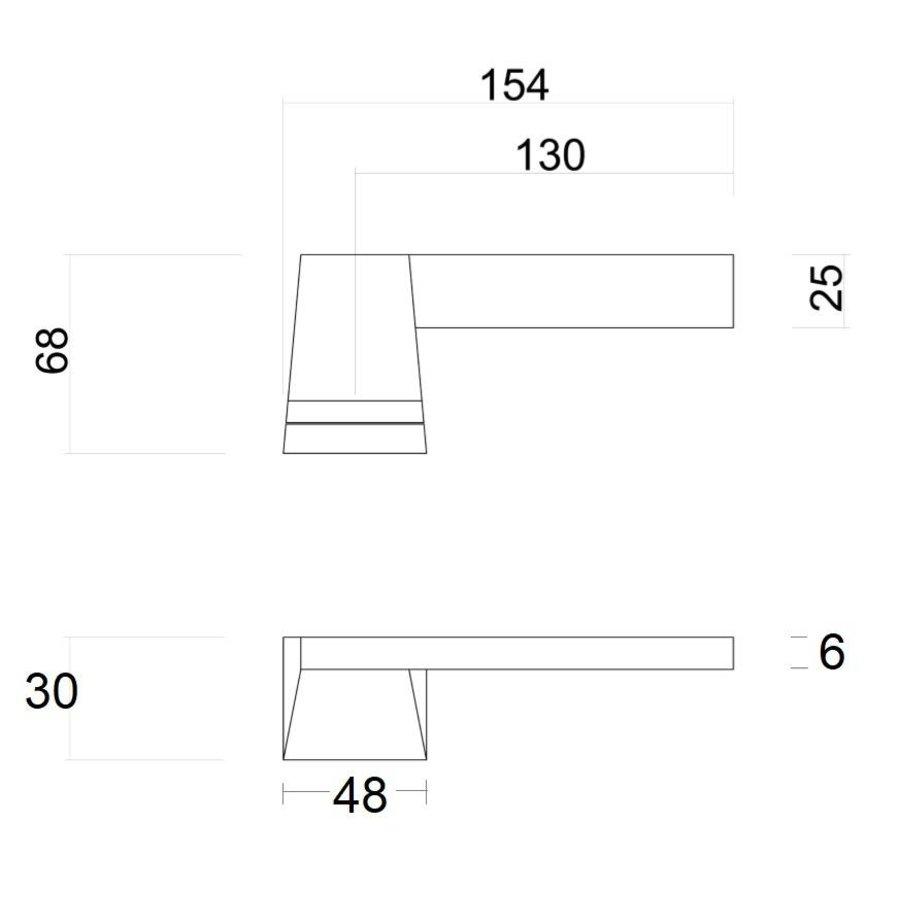 EXCLUSIVE DOOR HANDLE SELIZ WHITE + WITHOUT KEY