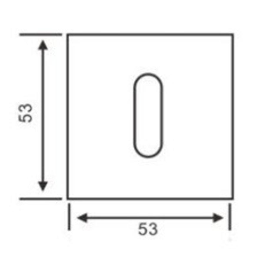 1 Sleutelplaatje vierkant RVS