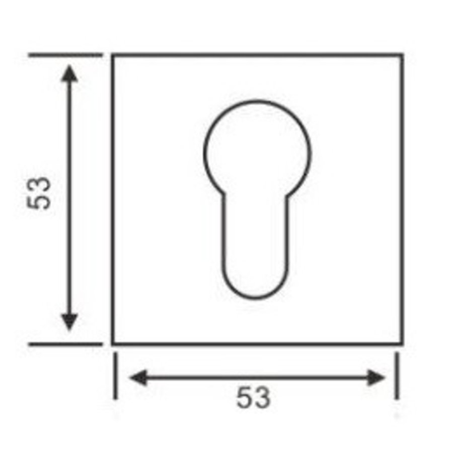 1 Zylinderplatte quadratischer Edelstahl