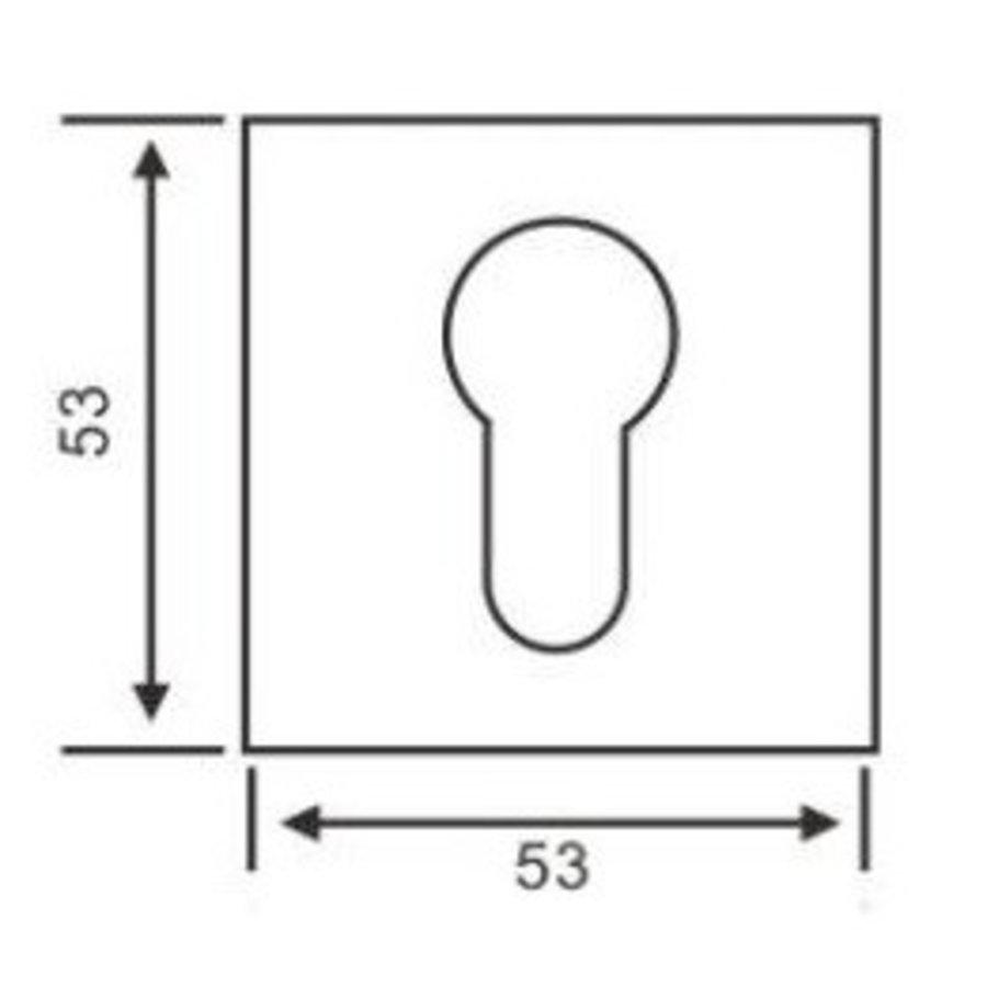 1 Cilinderplaatje vierkant zwart