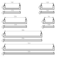 Möbelgriff PMQ-128 gealtertes Eisen - schwarz 128mm