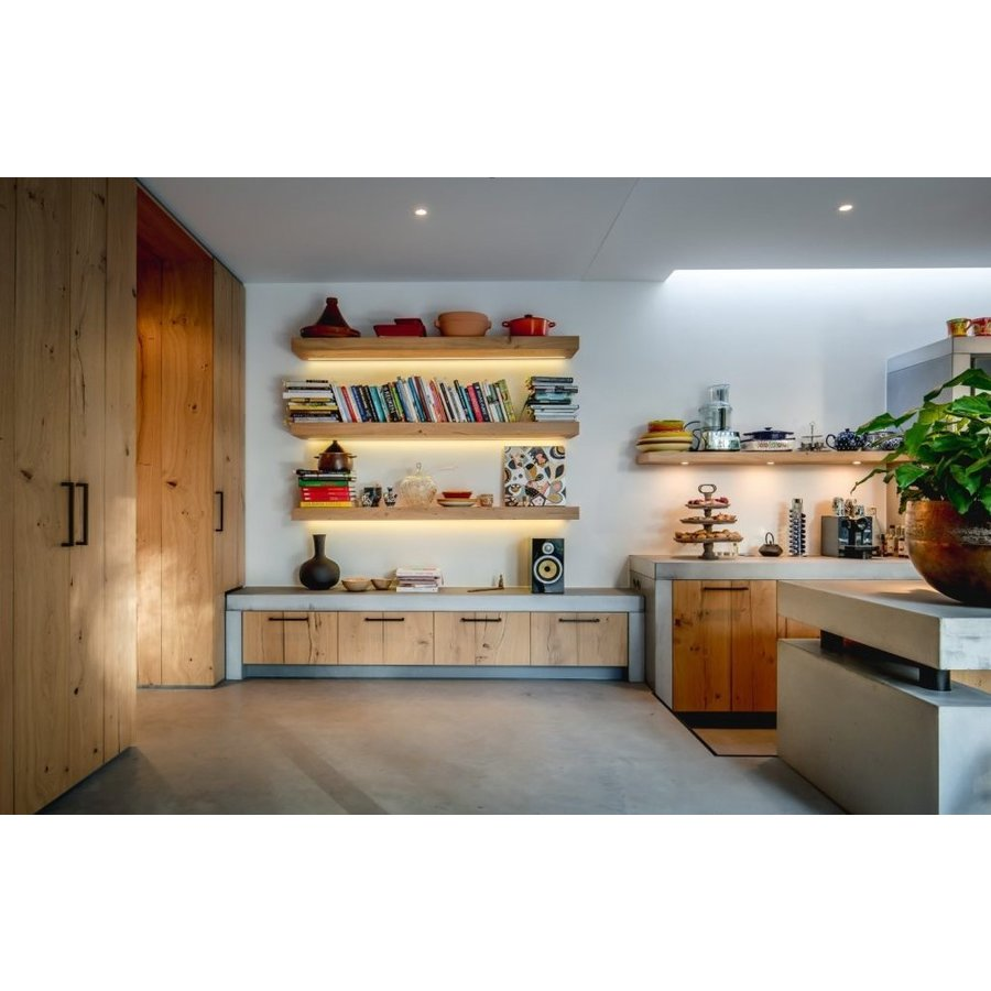 Furniture handle PMQ-384 aged iron - black 384mm