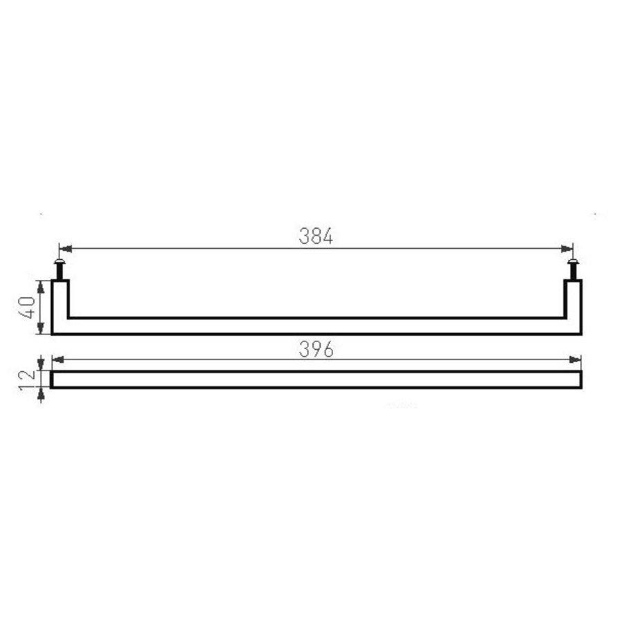 Meubelgreep PMQ-384 verouderd ijzer - zwart  384mm