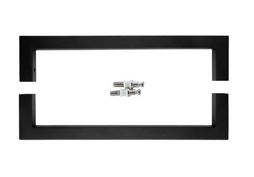 """Poignée de porte noire """"Cubica"""" U 20/300 paire pour verre"""